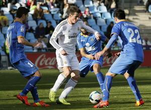 Gareth Bale disputó el encuentro ante el Getafe, tras varias semanas de una lesión que lo dejó sin ver actividad.