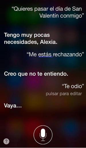 Un usuario de iPhone invita a Siri a pasar el día juntos.