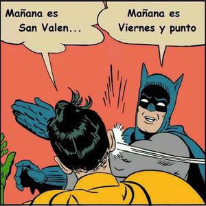 Batman reprende a un romántico Robin.