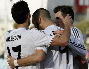 El francés Benzema también se hizo presente en el marcador con el 2-0 para su equipo.