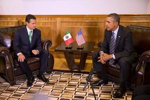 Peña Nieto y Barack Obama sostuvieron una reunión en privado antes del arribo del primer ministro de Canadá, Stepehn Harper.