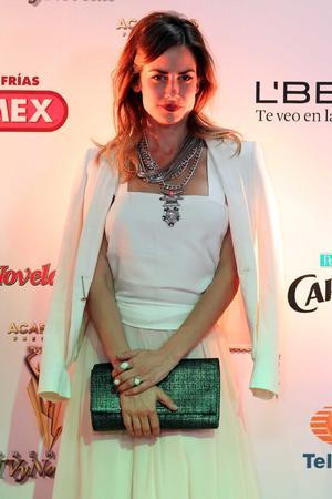 Altaír Jarabo deslumbró en la alfombra roja de la ceremonia de los nominados para la entrega de los Premios TvyNovelas 2014.