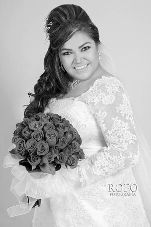 Lic. Vianey Sánchez Muñoz el día de su boda con el Ing. Pedro Iván Nava Pérez. - ROFO Fotografía