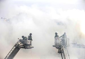 Rápidamente se movilizaron cientos de cuerpos de rescate al lugar,