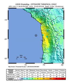 Sky Alert emitió la alerta de tsunami para toda la costa de Chile, Ecuador y Perú.