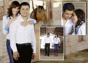 Alicia Luévanos y Carlos Alberto López contrajeón nupcias en el mes de junio.- Érick Sotomayor Fotografía