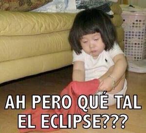 El desvelo por ver el eclipse también fue motivo de burla.