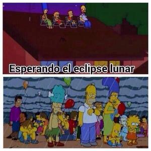 La expectativa por el eclipse fue una de las burlas.