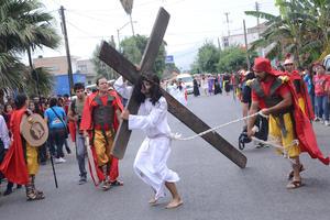 Esta escenificación tuvo lugar en Santa Rosa, donde ya se ha vuelto tradicional.