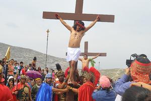 El pueblo estuvo comprometido con la representación, que es la número 33 que se realiza en el Cerro de las Noas.