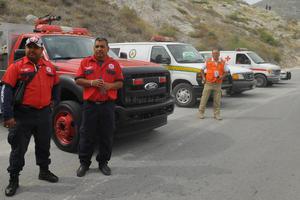 Personal de seguridad y apoyo se encontró disponible para socorrer a quien lo necesitara.