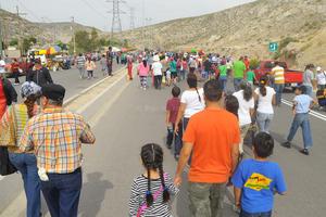Las familias empezaron a llegar al sitio desde tempranas horas.