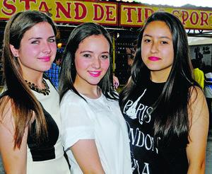Andrea, Monica y Lorena.