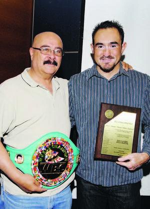 """Antonio Montañez y """"Veneno"""" Rubio."""