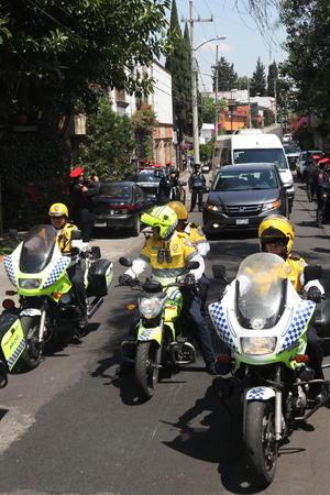 Las cenizas de García Márquez se encontraban en su domicilio, desde donde salieron para dirigirse a Bellas Artes en medio de un fuerte operativo de seguridad.