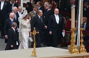 Al evento acudieron mandatarios y cancilleres de todo el mundo, así como los reyes de España.