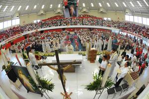 Monseñor Galván ofició una misa en la que remarcó que las canonizaciones son una celebración de fe que se deben vivir con júbilo
