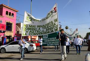 No se reportaron incidentes durante la marcha de los trabajadores.