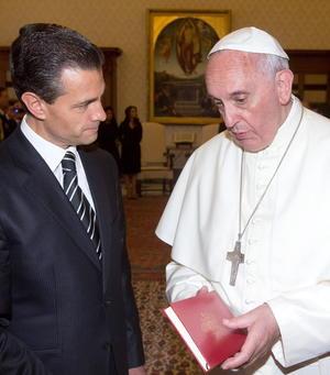 """Durante la charla, que transcurrió """"en un clima de cordialidad"""", se pasó revista a algunos aspectos de la vida de México, """"entre ellos las numerosas reformas emprendidas y, en particular, la constitucional, que concierne a la libertad religiosa""""."""