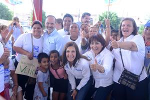Madero acompañó a los candidatos Chuy García Colores, Natalia Virgil Orona, Maricarmen Espada y Margarita del Río.