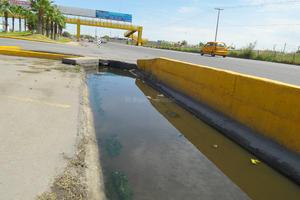 Los encharcamientos duran días porque no hay un eficiente sistema de drenaje.