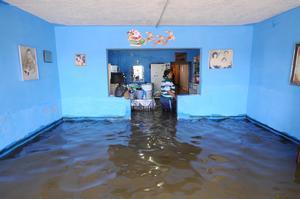 En Gómez Palacio, las colonias más afectados fueron El Amigo y Brittingham, en donde el agua se metió a las casas.