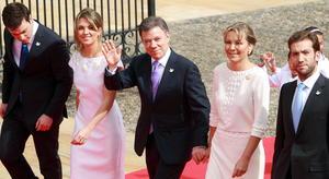 Juan Manuel llegó al Patio Núñez acompañado de su esposa María Clemencia Rodríguez de Santos.