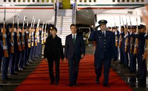 El presidente Peña Nieto, quien llegó a Colombia este jueves, fue también uno de los mandatarios invitados.