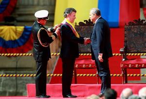 Juan Manuel Santos fue investido este jueves por segunda vez como jefe de Estado para el período constitucional 2014-2018.