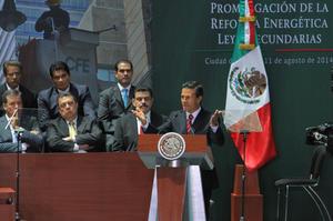 El mandatario reafirmó que la reforma energética preserva y asegura la propiedad de la nación de Pemex, CFE y de los hidrocarburos en el subsuelo y la reforma petrolera.
