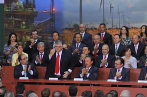 El evento se realizó en Palacio Nacional con la presencia de distintas personalidades de la política como funcionarios, líderes de partidos y gobernadores.