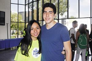 17082014 EN EL ITESM.  Paulina y Carlos.