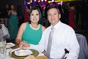 17082014 ASISTEN A BANQUETE NUPCIAL.  Edith Luna y Ricardo Godínez.