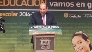 El arranque del ciclo escolar 2014-2015 fue encabezado por el gobernador Rubén Moreira en las instalaciones de la Secretaría de Educación a las 8:00 horas.