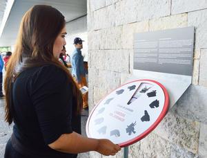 Junto a la exposición se encuentra este círculo en el que puedes identificar el signo que te corresponde en el calendario chino.