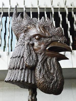 Gallo, la exposición está integrada por 12 cabezas de animales.