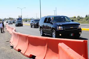 Un fuerte operativo de seguridad se desplegó en La Laguna durante la visita del presidente Enrique Peña Nieto.