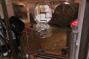 El Museo de la Moneda también resultó afectado por las lluvias.