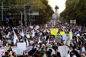Durante más de cuatro horas, el DF fue 'tomado' por las protestas.