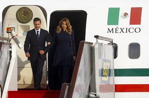 El presidente Enrique Peña Nieto arribó a Beijing a las 14:43 horas locales del 10 de noviembre para participar en la XXII Cumbre de APEC.