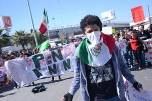 Los laguneros se unieron así a las movilizaciones que se realizaron en todo México.
