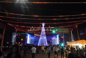 En Gómez Palacio también se llevó a cabo el encendido del árbol navideño.