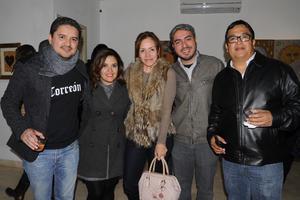 03122014 ASISTEN A EXPO.  Román, Lupita, Tensy, Sergio y Ricardo.