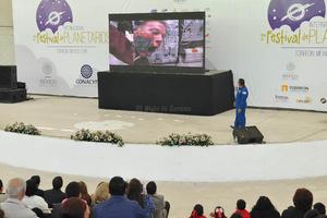 Con la plática se dio por inaugurado el Primer Festival Internacional de Planetarios que organiza Planetarium Torreón en coordinación con el Consejo Nacional de Ciencia y la Tecnología (Conacyt).