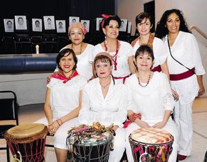 05122014 EVENTO DEL HECAT.  Rosa, Lucía, Mónica, Jessy, Tere, Alejandra y Tere.