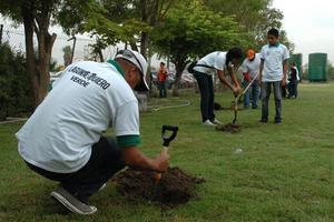 27 de septiembre   LYTQ. Laguna Yo Te Quiero Verde entregó 45 mil árboles a ciudadanos que participaron en la campaña de reforestación, con lo que la meta quedó rebasada.