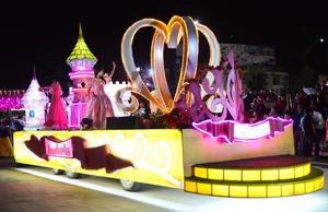 El mundo de las princesas pudo ser visto como parte del desfile.
