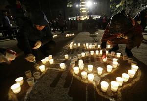 También en Surcorea, las oraciones budistas formaron parte del ritual para recibir al año nuevo.