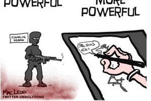 El caricaturista MacLeod retrató el horror de los ataques.