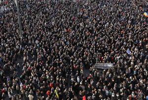 Se estima que más de 200 mil personas participaron en las movilizaciones.